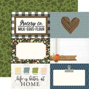 4 x 6 Journaling Card Paper - Welcome Home - Carta Bella