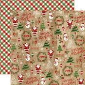 Christmas Collage Paper - A Perfect Christmas - Echo Park