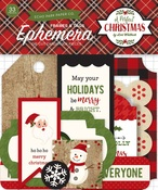 A Perfect Christmas Frames & Tags Ephemera - Echo Park