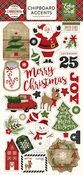 A Perfect Christmas Chipboard Stickers - Echo Park