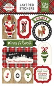 A Perfect Christmas Layered Stickers - Echo Park