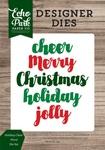 Holiday Cheer Word Die Set - Echo Park