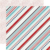 Snowy Stripes Paper - A Perfect Winter - Echo Park