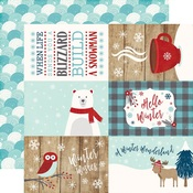 4 x 6 Journaling Card Paper - A Perfect Winter - Echo Park
