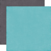 Light Blue - Grey Paper - A Perfect Winter - Echo Park