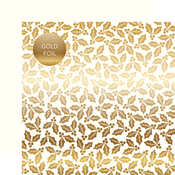 White Holly & Berries Gold Foil Specialty Sheet - Carta Bella