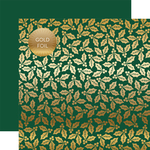 Green Holly & Berries Gold Foil Specialty Sheet - Carta Bella