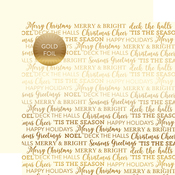 Cream Holiday Sentiments Gold Foil Specialty Sheet - Carta Bella