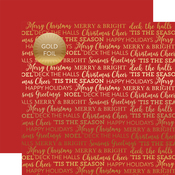 Red Holiday Sentiments Gold Foil Specialty Sheet - Carta Bella