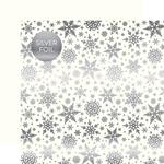 White Winter Wonderland Silver Foil Specialty Sheet - Carta Bella