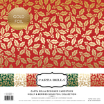 Holly & Berries Gold Foil Collection Kit - Carta Bella - PRE ORDER
