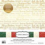 Holiday Sentiments Gold Foil Collection Kit - Carta Bella - PRE ORDER