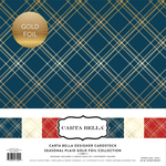 Seasonal Plaid Gold Foil Collection Kit - Carta Bella - PRE ORDER