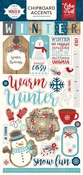 A Perfect Winter Chipboard Stickers - Echo Park