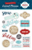 A Perfect Winter Enamel Words & Phrases - Echo Park