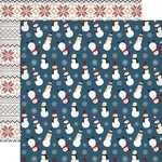 Silly Snowmen Paper - Cabin Fever - Carta Bella