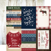 4X6 Journaling Cards Paper - Cabin Fever - Carta Bella