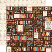 Happy Crafter Paper - I'd Rather Be Crafting - Echo Park