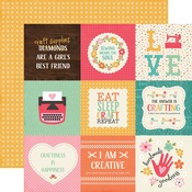 4 x 4 Journaling Paper - I'd Rather Be Crafting - Echo Park