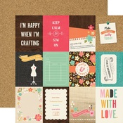 3 x 4 Journaling Paper - I'd Rather Be Crafting - Echo Park