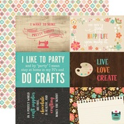 4 x 6 Journaling Paper - I'd Rather Be Crafting - Echo Park