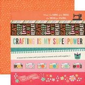 Border Strips Paper - I'd Rather Be Crafting - Echo Park