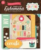 I'd Rather Be Crafting Frames & Tags Ephemera - Echo Park
