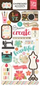 I'd Rather Be Crafting Chipboard Stickers - Echo Park
