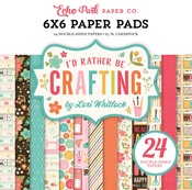 I'd Rather Be Crafting 6 x 6 Paper Pad - Echo Park