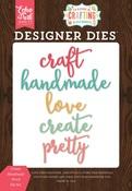 Create Handmade Word Die Set - Echo Park - PRE ORDER