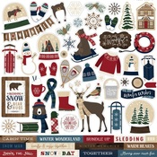 Cabin Fever Sticker Sheet - Carta Bella