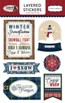 Cabin Fever Layered Stickers - Carta Bella