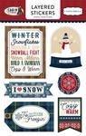 Cabin Fever Layered Stickers - Carta Bella