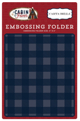 Small Buffalo Plaid Embossing Folder - Carta Bella