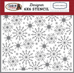 Frosted Snowflakes Stencil - Carta Bella