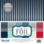 Silver Foil Winter Stripe Collection Kit - Echo Park