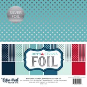 Silver Foil Winter Dots & Stripes Collection Kit