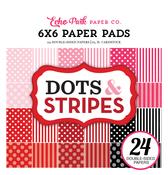 Valentines II Dots & Stripes 6x6 Paper Pad - Echo Park