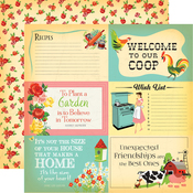 4x6 Journaling Cards Paper - Country Kitchen - Carta Bella