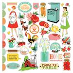 Country Kitchen Sticker Sheet - Carta Bella - PRE ORDER