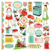 Country Kitchen Sticker Sheet - Carta Bella