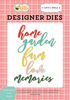 Home Garden Word Die Set - Carta Bella Cuts through paper, cardstock and other thin materials.  Cut away the connecting tabs on the metal die to quickly and easily die cut shapes from patterned paper, cardstock, and other thin materials. Designer dies are a cut above the rest.<br><br>