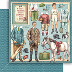 Fathers And Sons Paper - Penny's Paper Doll Family - Graphic 45 - PRE ORDER