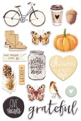 Amber Moon Puffy Stickers - Prima