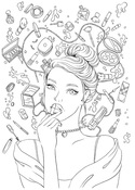 Glamour Prima Princess Stamp