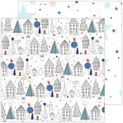 Starry Night Paper - December Days - Pinkfresh