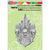 "Chandelier Skulls - Stampendous Cling Stamp 6.5""X4.5"""