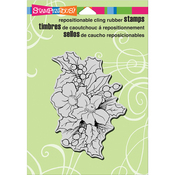 """Christmas Roses - Stampendous Cling Stamp 6.5""""X4.5"""""""