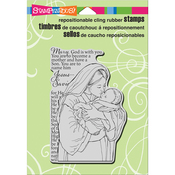 "Mother Mary - Stampendous Cling Stamp 6.5""X4.5"""