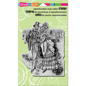 """Strolling Skeletons - Stampendous Cling Stamp 7.75""""X4.5"""""""
